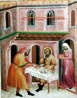 opere di Misericordia: dar da mangiare agli affamati.