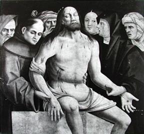 deposizione di Cristo nel sepolcro con la Madonna, San Giuseppe d