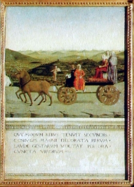 trionfo di Battista Sforza