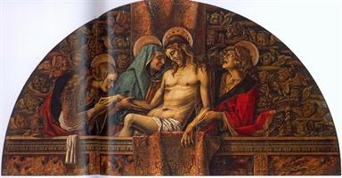 pietà con la Madonna, Santa Maria Maddalena e San Giovanni Evangelista.
