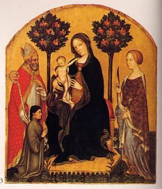 Madonna con Bambino, San Niccolò, Santa Caterina d