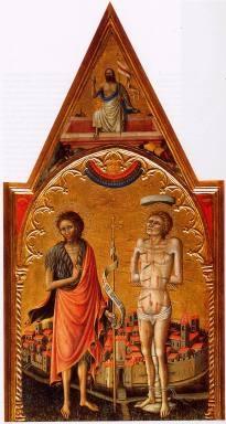 Madonna della Misericordia/ San Giovanni Battista e San Sebastiano
