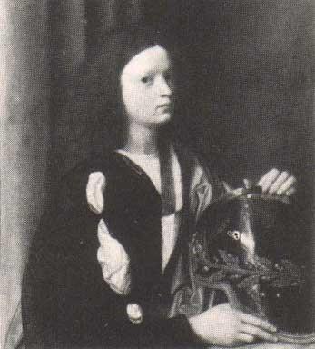 figura di fanciullo con elmo