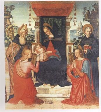 Madonna con Bambino, Sant
