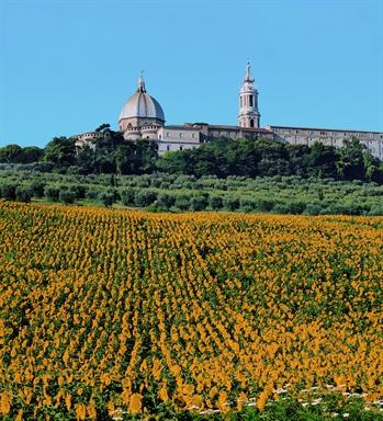 Veduta laterale della Basilica di Loreto
