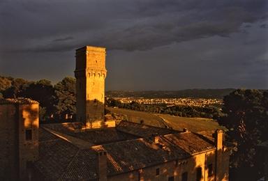 Villa Imperiale al tramonto