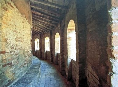 Particolare del camminamento di ronda della Basilica di Loreto