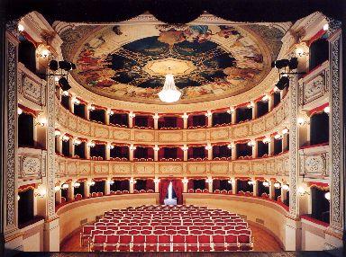 Veduta dei palchi del Teatro Civico di Porto San Giorgio